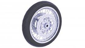 Front Wheel Motorcycle Tire 3D Model 38
