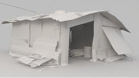 Metal Shed Slum Low Poly Game 3D Model 1