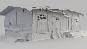 House Slum Shed 3D Model 2