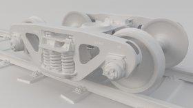 Train Wheel Bogie 3D Model 3