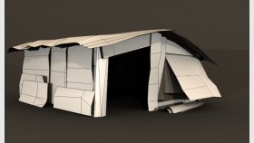 Metal Shed Slum Game 3D Model Low