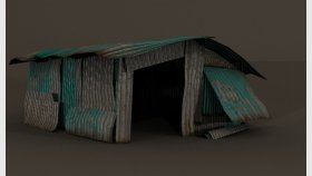 Lowpoly Metal Slum Game 3D Model and Textures
