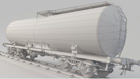 Lowpoly Train Tanker Oil & Petrol Diesel & Gas 3d (1)