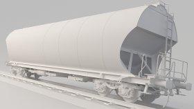 Covered Hopper 3D Model Uagpps 3