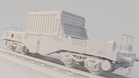 Nuclear Flask Train 3D Model 22