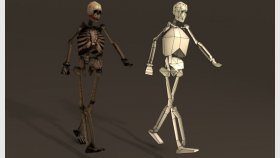 Lowpoly skeleton Game model and Textures