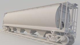 Grain Hopper Car 3D Model SKPX SKNX 18