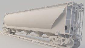 Grain Corn Covered Hopper Car 3D Model GPFX 19