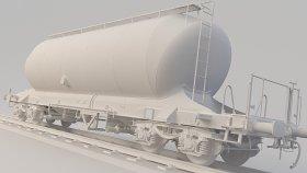Silo Cement Wagon 3D Model Uacs 20