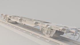 Train lgnss FlatCar 3D Model 23