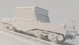 Nuclear Flask Car 3D Model Low 22