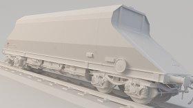 Open Top Coal Hopper 3D Model JAG 24