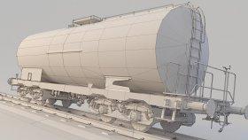 Lowpoly Train Tanker Zaes 3d 17