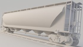 Covered Hopper Train Simulators 3D Model 19