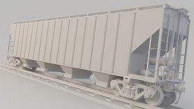 Covered Hopper Train Car 3D Model Ehsx 23