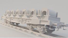 Open Coil Car 3D Model Low