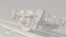 Train Wagon Bogie 3D Model 2-2