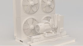 Industrial Roof-Top Air Conditioner 3D Model 3