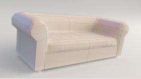 Lowpoly sofa Game model