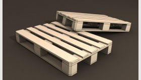 EURO Pallet Low Poly Game 3D Model