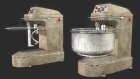 Simulator Kitchen 3D Model Commercial Planetary Stand Mixer 2