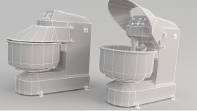 Machinery Food Planetary Mixer Low 3D Model 2