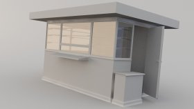 Newsstand Store 3D Model 1 Low