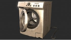 Lowpoly Washing Machine and Textures