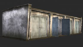 Lowpoly Garage 3d and Textures