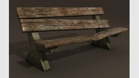 Bench 3d and Textures