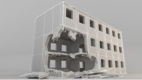 Lowpoly Destroyed Building (1)