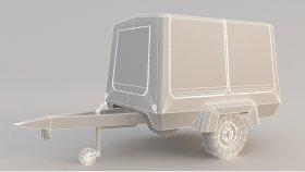 Mobile Generator Trailer 3D Model Low