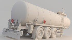 Fuel & Bitumen & Asphalt Tank Traile 3D Model 4