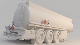 Fuel Tank Semi Trailer 3D Model 3
