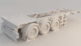 Container Semi Trailer 3D Model 1
