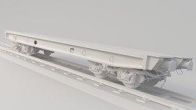 Flatcar 3D Model 25