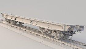 LowPoly Train Flatcar 3d (25)