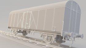 LowPoly Train boxcar 3d (26)