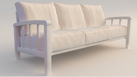 Wooden Furniture Garden Sofa 3d (91)
