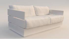 Wooden Furniture Garden Sofa 3d (92)