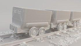 Lowpoly Train coal