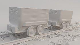 Train coal 3d