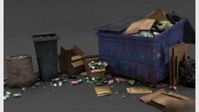 Dumpster 3d and Textures