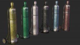 Lowpoly bottle gas Game Model