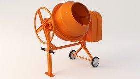 Portable Cement Concrete Mixer 3d (5)
