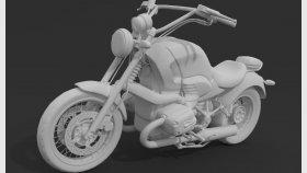 Motorcycle Chopper 3d