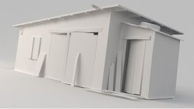 lowpoly barn Game model