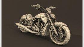 Motorcycle Chopper harley 3d