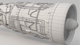 Jet Engine 3D Model 1