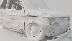 Fiat 126p abandoned scrap 3d